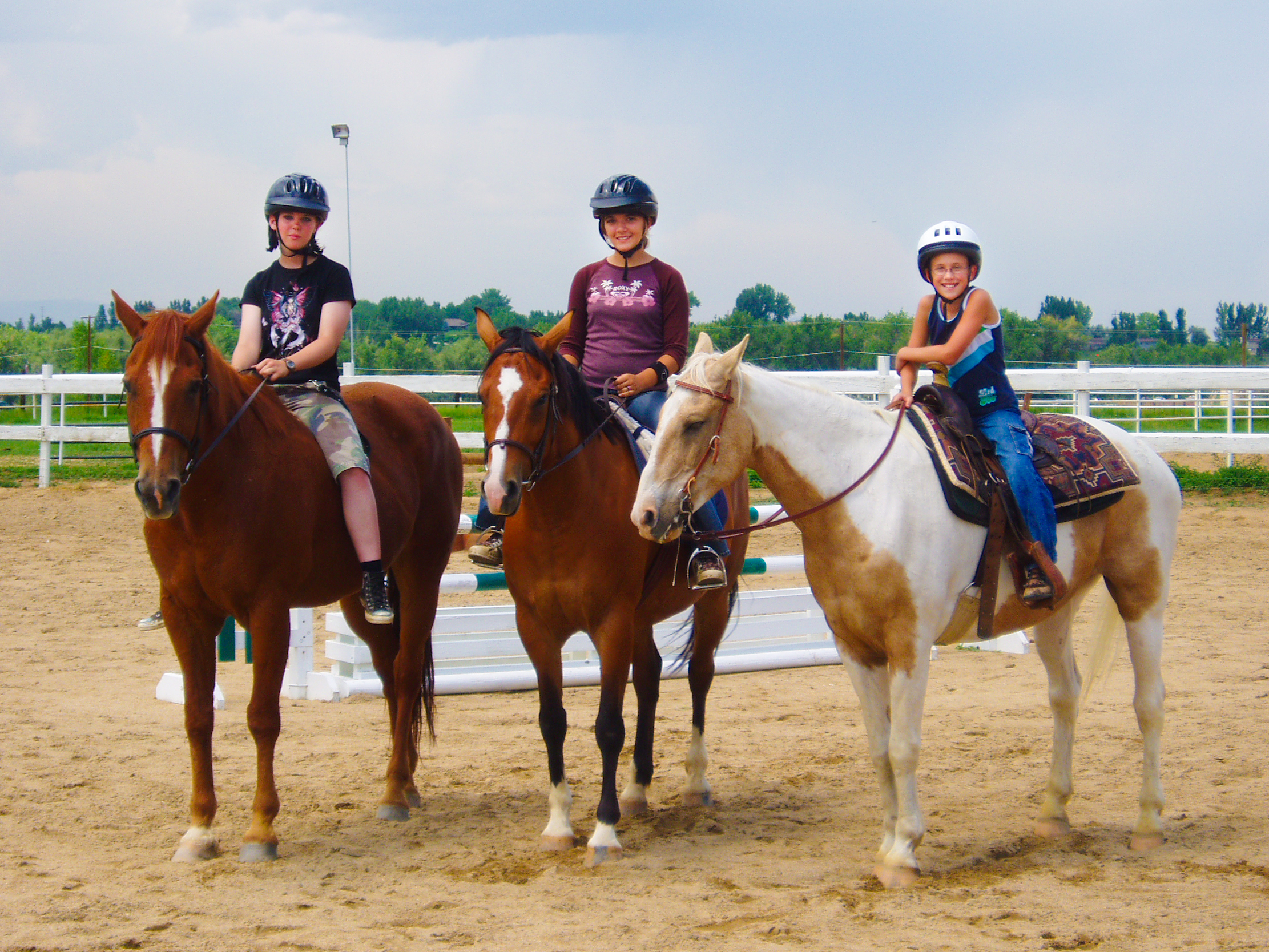 Camp Horse Riders - On Horses